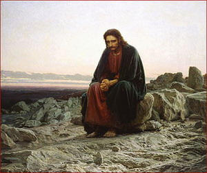 Hristos in pustiu